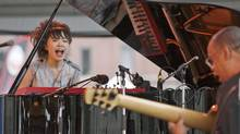 Hiromi Uehara and her star-studded rhythm section swap licks like old friends finishing each other's sentences. (Joe Giblin/AP)