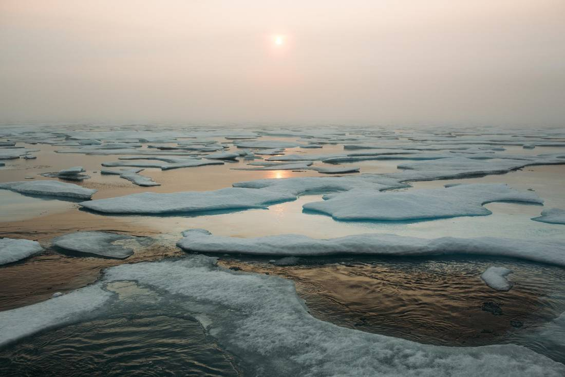 A view of the ocean through the Northwest Passage.
