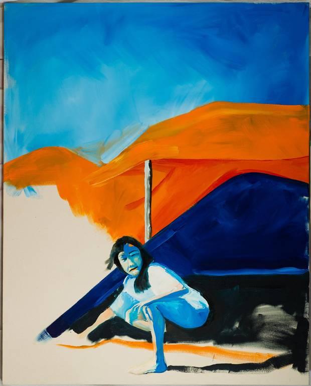 Night Sky (for Sandi), 2012 oil on canvas.