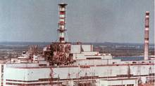 This is a 1986 aerial view of the Chernobyl nuclear plant in Chernobyl, Ukraine showing damage from an explosion and fire on April 26, 1986 that sent large amounts of radioactive material into the atmosphere. (CP/CP)