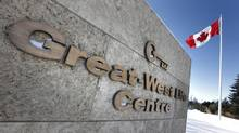 Great-West Lifeco world headquarters in Winnipeg, February, 2013. The multinational insurance company said Wednesday its profits climbed 7 per cent in its latest quarter. (JOHN WOODS/THE CANADIAN PRESS)
