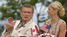 "Regis Philbin and Kelly Ripa of ""Live! with Regis and Kelly"" broadcast their show on the waterfront in Charlottetown, Prince Edward Island on Monday, July 12, 2010. (Andrew Vaughan/The Canadian Press/Andrew Vaughan/The Canadian Press)"