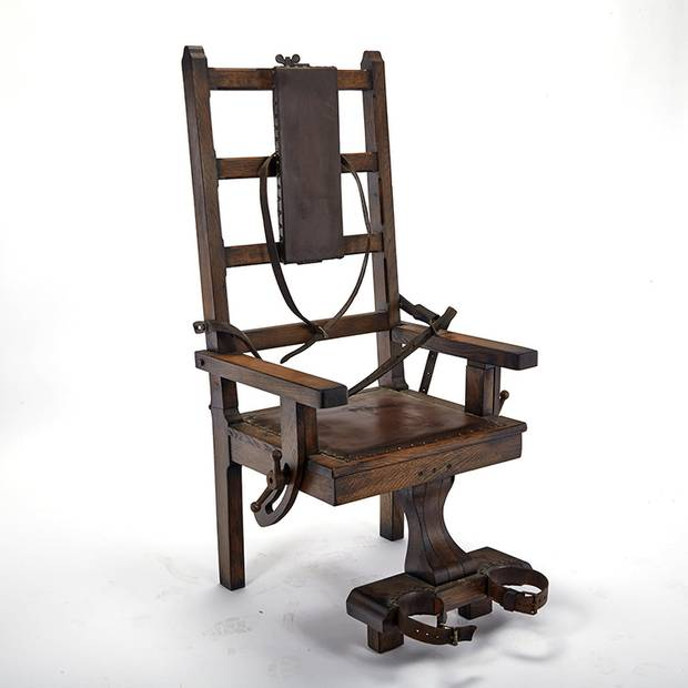 Early 20th Century Electric Chair USA Used For Torture Rather Than Execution