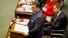 Ontario Finance Minister Dwight Duncan delivers the budget in the Legislature at Queen's Park in Toronto on March 27, 2012. (Peter Power/The Globe and Mail)