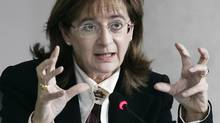 Jocelyne Bourgon testifies at the Gomery Inquiry in December, 2004. (Bill Grimshaw/The Globe and Mail)