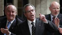 Natural Resources Minister Joe Oliver says Canada must streamline the environmental review process to avoid delaying major energy and mining projects. (CHRIS WATTIE/REUTERS)