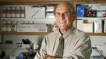 Ralph M. Steinman, an immunologist at Rockefeller University, poses in this photo released to the media on Monday, Oct. 3, 2011. Stienman, who won the Nobel Prize in medicine today with Jules A. Hoffmann and Bruce A. Beutler, died on Sept. 30 after a four-year battle with pancreatic cancer. (Rockefeller University via Bloomberg)