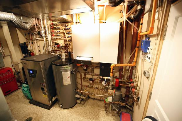 A typical residential geothermal system.