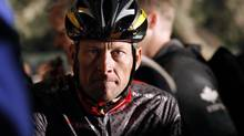 Lance Armstrong awaits the start of the 2010 Cape Argus Cycle Tour in Cape Town, in this file picture taken March 14, 2010. (MIKE HUTCHINGS/REUTERS)