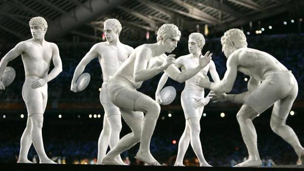 The Globe & Mail - Performers dressed as ancient athletes at the 2004 Olympic Games held in Athens, Greece.