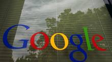 FILE- In this Thursday, April 12, 2012, photo, a Google logo is displayed at the headquarters in Mountain View, Calif. Google Inc. reports quarterly financial results after the market closes on Thursday, July 19, 2012. (Paul Sakuma/AP)