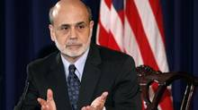 U.S. Federal Reserve chairman Ben Bernanke could give an indication of his intentions on more stimulus as early as Friday, when he delivers a speech at Jackson Hole, Wyo., to a gathering of the world's top economists. (KEVIN LAMARQUE/REUTERS)