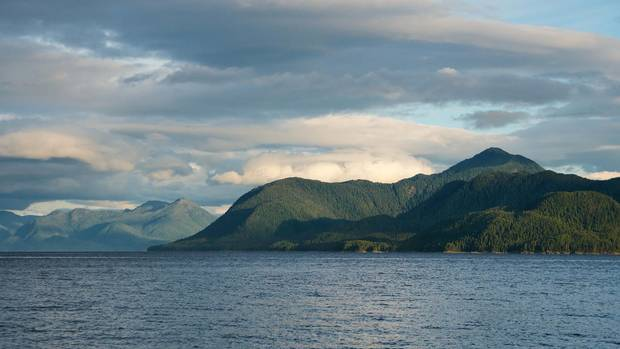 Squally Channel on the north coast of British Columbia.