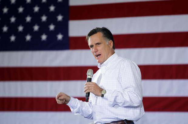 Mitt Romney speaks at a campaign rally in Dubuque, Iowa, on Jan. 2, 2012.