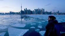 Passengers ride a Toronto Island Ferry Jan. 9, 2014. (KEVIN VAN PAASSEN/THE GLOBE AND MAIL)