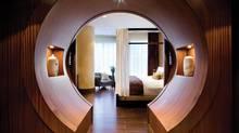 Luxe chinoiserie dominates the decor at Shangri-La Toronto. (Brandon Barre)