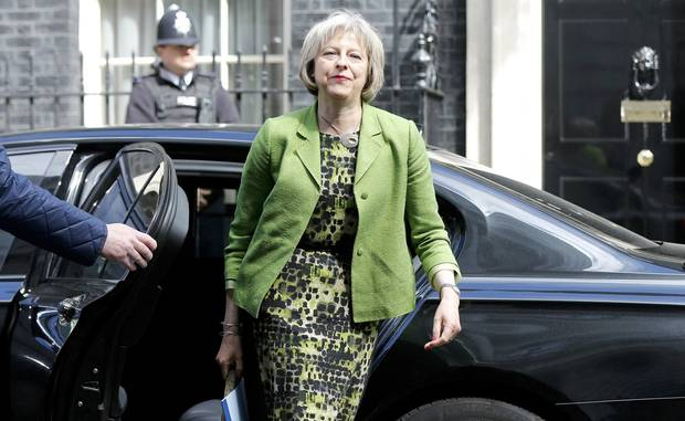 British Home Secretary Theresa May is shown in London on May 12, 2015.