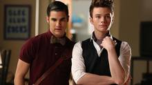 "Darren Criss (left) and Chris Colfer in a scene from an episode of ""Glee"": The Fox television show boasts six gay characters. (Adam Rose/Fox)"
