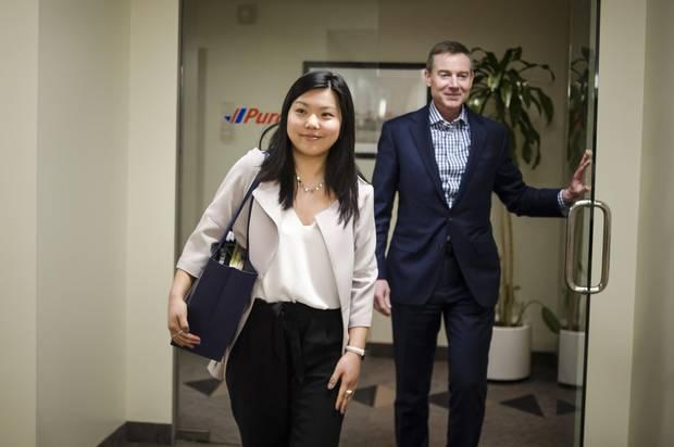Vanessa Lin spent the day shadowing Purolator CEO John Ferguson on Feb. 23, 2018.