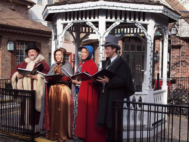 The Baker Street Victorian Carolers, a strolling musical group that dresses in Victorian costume and performs a repertoire of songs mostly culled from that era.
