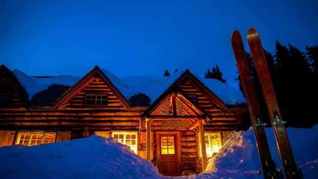 Hiking or skiing are available activities at Skoki Lodge in Banff National Park.