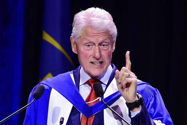 Oct. 3, 2017: Former U.S. president Bill Clinton speaks in Toronto.