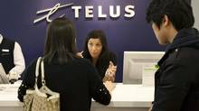 The shares of Telus, BCE and Rogers Communications ended the week at prices not seen since mid-to-late February. (Darren Calabrese/THE CANADIAN PRESS)