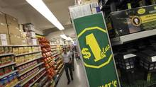 Dollar stores are forcing mainstream merchants, ranging from discounter Wal-Mart Canada to generalist Canadian Tire, to step up their own dollar promotions. (Deborah Baic/The Globe and Mail)
