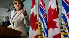 B.C. Premier Christy Clark holds her first news conference of the year in Vancouver on Jan. 16, 2013. (Darryl Dyck for The Globe and Mail)