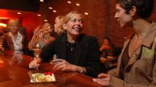 Shannon Walker (second from right) enjoys a glass of Champagne with Dana Volrich (right) and friends at Chambar, Oct 05 2005-Vancouver. (Brian Howell/The Globe and Mail/Brian Howell/The Globe and Mail)