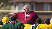 Toronto Mayor Rob Ford coaching the Don Bosco High School Eagles in Toronto on Sept. 11, 2012 (Peter Power/The Globe and Mail)