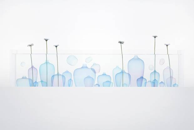 Nendo's Jellyfish vases are made of silicone.