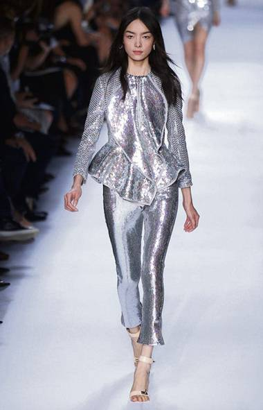 The sequined jacket, on the runway (Benoit Tessier / Reuters/Benoit Tessier / Reuters)