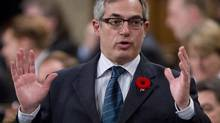Treasury Board President Tony Clement hosted an elections-watching party on Parliament Hill, where he said he had to turn away as many as 200 people because of space constraints. (Adrian Wyld/THE CANADIAN PRESS)