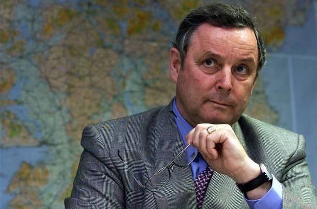 Canadian general John de Chastelain is shown in his Belfast office in October, 2001.