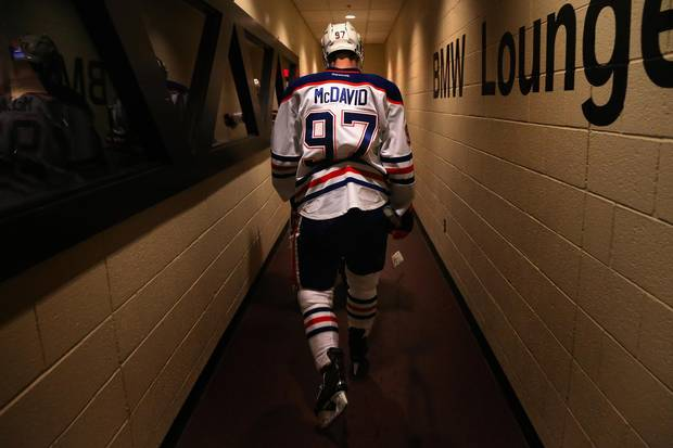 Connor McDavid is the latest in a string of the city's hockey stars to work with optician Karen Muncey, a trained professional who works with athletes to improve their vision.