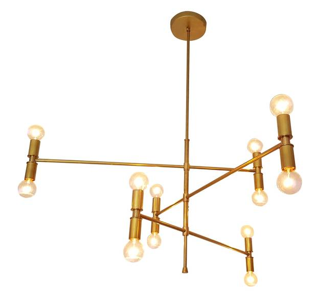 Mid-century ceiling-mounted lamp, $1,350 at Lamp Cage (lampcage.com).