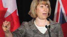 Ontario Education Minister Laurel Broten appealed to elementary school teachers to return to a provincial discussion table to help set the framework for negotiations. (Colin Perkel/The Canadian Press)