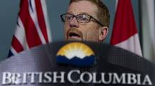 B.C. Environment Minister Terry Lake was not available for comment on Wednesday, but said in an interview earlier in the week that the long-term risks associated with the project were too great.
