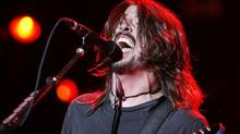 Foo Fighters front man Dave Grohl performs at the Virgin Festival in Toronto September 6, 2008. (Yvonne Berg for The Globe and Mail)