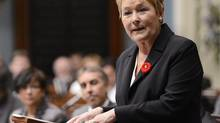 Quebec's Premier Pauline Marois speaks during her inaugural speech at the National Assembly in Quebec City on October 31, 2012. (JACQUES BOISSINOT/REUTERS)
