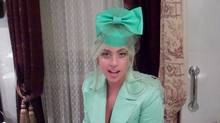 Screen grab from video that Lady Gaga sent to student at Etobicoke School of the Arts in Toronto