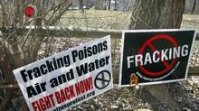 Fracking projects in Pennsylvania have spurred citizen protests. A new study from University of New Brunswick researchers says that if the industry in the province expands as it has in Pennsylvnia, could be about 1,000 shale-gas wells drilled every year in the province. (Keith Srakocic/Associated Press/Keith Srakocic/Associated Press)