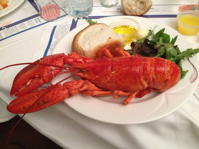 Traditional lobster supper.