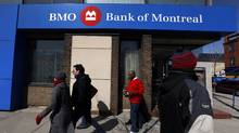 A Bank of Montreal or BMO location in Toronto. (Deborah Baic/Deborah Baic/The Globe and Mail)