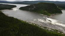 Muskrat Falls, on the Churchill River in Labrador. A native community council has voted to take the federal Department of Fisheries and Oceans to court over the damming of the Labrador river as part of the Muskrat Falls hydroelectric project. (Paul Daly for The Globe and Mail)