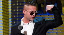"""Michael """"The Situation"""" Sorrentino appears onstage at the Comedy Central Roast of Donald Trump in New York. in March, 2011. (Charles Sykes/CHARLES SYKES/AP)"""