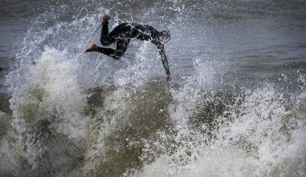 Ontario's lake-surfing community is just gearing up for ideal conditions now that the weather is getting 'worse.'