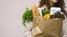 Sales of groceries in Britain are not keeping pace with inflation as shoppers cut back in austerity climate. (Jupiterimages/Getty Images/Comstock Images)