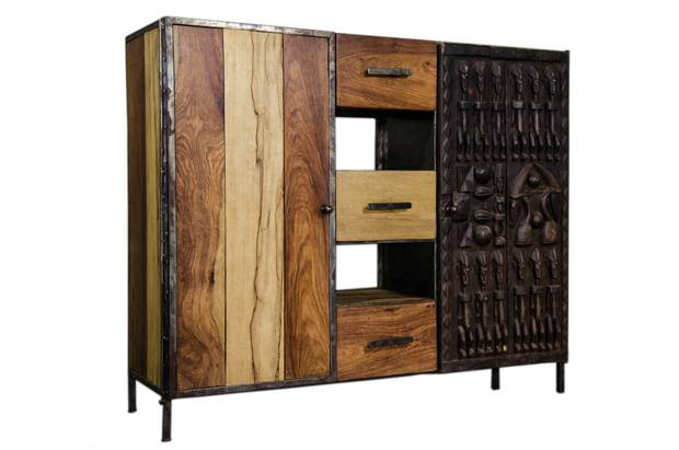 Naaka focuses on eco-design, using salvaged woods, scrap metals and other upcycled materials.